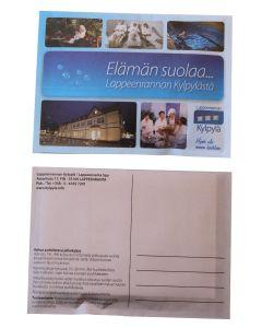 Jalkakylpy postitettavassa kortissa 4/4-väripainatus